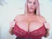 Fat tit blonde gives us a show