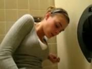 I'm having some fun in public restroom
