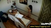 Asian rubs her clients cock well
