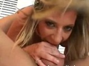 Sara Jay suck on then rides a cock