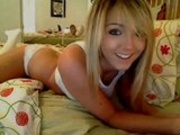 Hot Blonde Strips For Camera