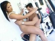Asian Chick Fucked At The Fitness Center