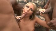 Babe Aleska Diamond gets an interracial double penetration