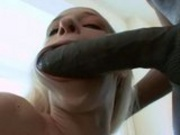 Sexy Blonde Craves Chocolate Cock