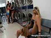 Steamy Foursome in the Laundry