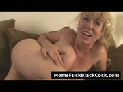 Round ass blonde mommy fucked hard by black stud
