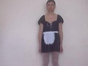 Chris the maid strips naked FUNNY