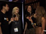 PornhubTV Jasmine Jae and Sophia Knight at 2015 AVN Awards