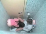 Spy cam caught them fucking in the bathroom