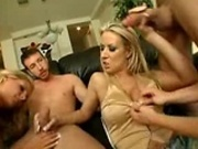 Orgy with three hot MILFs!