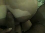 big white ass takes my big black dick