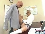 Computer nerd Kat gets her tight asin pussy pounded by the school principal