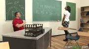 Stunning black chick getting fucked hard by the dean