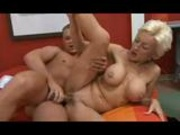 Mature blonde fucks the guest