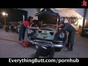 Retro Chick gets her mechanic to butt fuck her