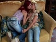 Teens Making Out On The Couch