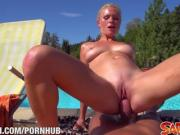Cathy Andersons Poolfuck at Saboom