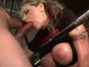 Oily Vicky Vette powerfucked in her ass