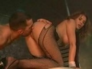 Strip Dancer Giving Pleasure To One Of Her Customer At The Stage
