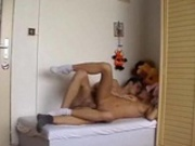 Hot couple on single bed 1
