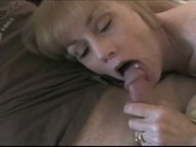 Melanie drains a few cocks