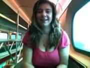 Alix Lakehurst masturbates on a train