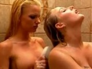 sexy lesbian in shower