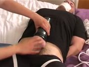 tied handjob forced to cum twice