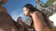Sex on the beach with Regina Moon