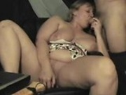 Sucking while dildo stick inside her