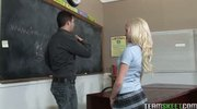 Cute blonde, Elaina Raye rammed hard by her prof