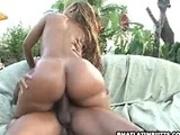 Latin butt riding a big cock