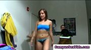 College teen amateur group strip