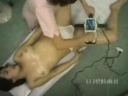 Nurse giving a full body massage-censored