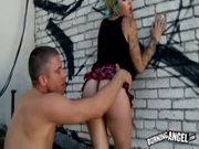 Punk Girl Gets Fucked Outdoors