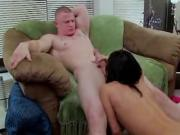 Big Dick White Dude Tries Not To Bust In Slut's Mouth