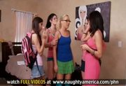 FOUR GIRLS fuck and suck ONE GUY, HOT!!!