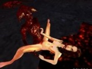 3D Model Fucked By A Demon In Hell