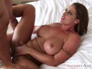 Beauty girlfriend Eva Notty gets big tits fucked