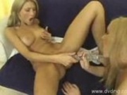 Dreamland lesbian action with toys