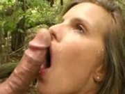 Summer Cummings fucked in the woods