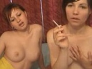 2 Hot Girls Smoking