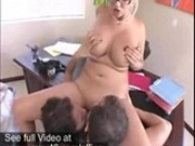 Busty Secretary getting a threesome in the Office