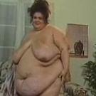 Fatty girl with banana