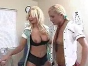 Blondes toying in the principal's office