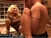 Sexy blonde housewife is stepping out to get the ass fucking