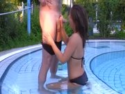 german girl gets fucked in public pool