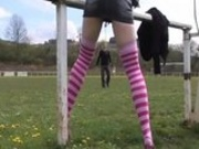 Milka Manson gets fucked at the soccer ground