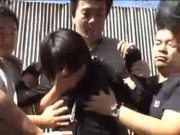 Japanese girl gangbanged and raped