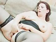 Cute Chubby Teen Playing With Her Puss